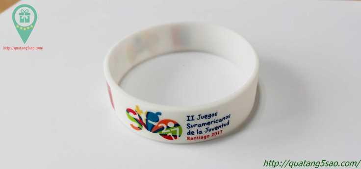 Vòng tay cao su giá rẻ in logo II Juegos Suramericanos de la Juventud