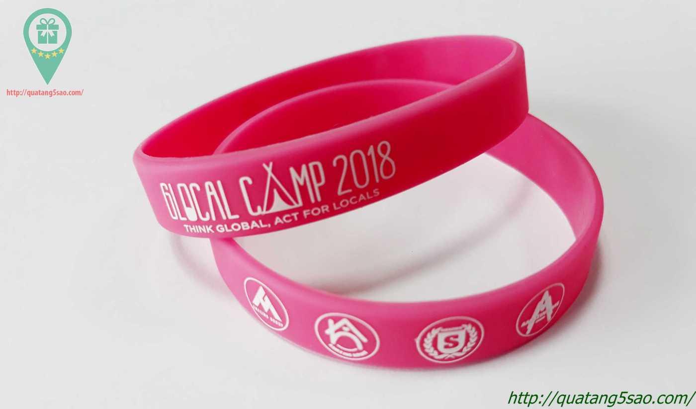Vòng tay cao su Glocal Camp 2018